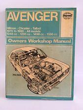 HILMAN AVENGER HAYNES SERVICE & REPAIR MANUAL. 1970-80