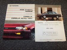 1990 Toyota Corolla Sedan Owner Owner's Operator User Guide Manual Set DX LE
