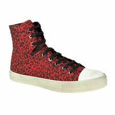 NIB AMIRI 'Sunset' Red Vintage Glitter Leopard Sneakers Shoes Size 13/46 $550