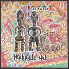 Tansania Block 208 mit Ersttagstempel 24.12.1982 Makonde - Kunst