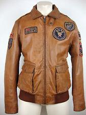 Milestone Bojo Leather Jacket Uomo Giacca di Pelle Giubbotto COGNAC TG. 52 Nuovo + Etichetta