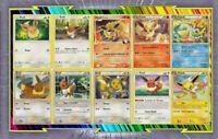 🌈Lot de 10 cartes Evoli Et Evolutions différentes Françaises Neuves - Pokemon
