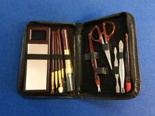 Manicure set, 11-pc set with black cover case, New.