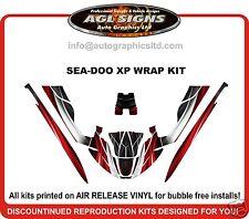 SEA-DOO XP 1994 1995 1996  JET SKI WRAP KIT  red racing graphics decal