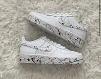 Custom Painted Nike Air Force 1s: Speckled Design