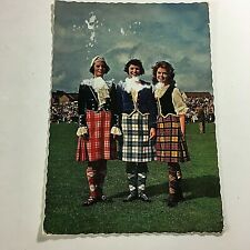 Vintage Postcard Three Bonnie Highland Dancers Celtic Dancers  R8