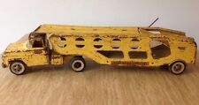 Vintage Tonka Motor Transporter Metal Yellow 1950s Made In The USA Toy