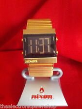 "Nixon ""The Metal Tron"" (Gold) 30M China Module w/ Extra Gold  Band [6D]"