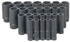 "26 Pc. 1/2"" Drive 6 Point Metric Deep Master Socket Set GRY-1326MD Brand New!"