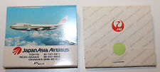 JAL + Japan Asia Airways Airlines Matchbook Cover Match Heads Cut Off Narita