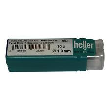 Heller 1mm HSS-TIN TITANIO Twist Punte Trapano in Metallo Confezione 10 strumenti di qualità tedesca
