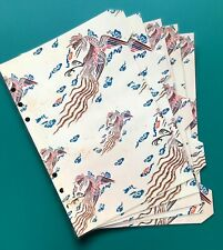 A5 Filofax Organiser Dividers in a Beautiful Chinese Dragon Design - Laminated