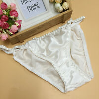 Sexy 100% Pure Silk Underpants Women Knickers Briefs 2 Pairs Size M L XL