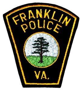 FRANKLIN VIRGINIA VA Sheriff Police Patch CUT EDGE FELT AA24
