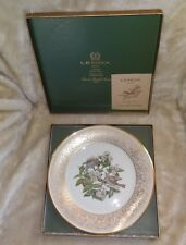 Vtg Lenox Boehm Birds Limited Edition Plate 1970 Wood Thrush & Coa In Box
