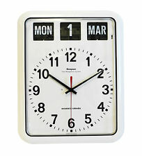 White Grayson Digital Easy to Read Alzheimer's Dementia Calendar Clock G239A