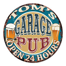 CPPO-0154 TOM'S GARAGE PUB Sign Father's Day Valentine Christmas Gift For Man