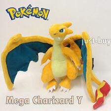 "Pokemon Red Firered Plush Mega Charizard Y Soft Toy Stuffed Animal Doll 9"" NWT"