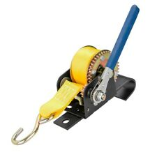 900 lbs Hand Pull Winch Strap Chain Hoist Steel Cable Rigging J Hook