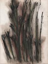 JEANETTE WELTY CHELF Pastel Drawing FLOWERS STUDY c1960 ABSTRACT IMPRESSIONISM