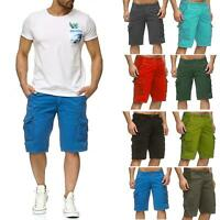 Mens Cargo Combat Chino Shorts Cotton Work Wear Summer Half Pant Casual Jeans