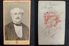 Lopez, Paris, Jules Simon, philosophe Vintage carte de visite, CDV.