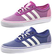Damen adidas Original Leinen Turnschuhe Blau/Lila Adiease W