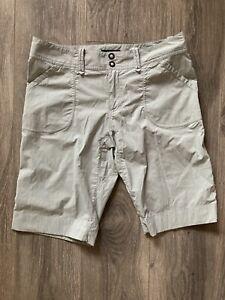 Women's Arcteryx Trim Fit - Long Shorts Outdoor Hiking Light Grey Size 8
