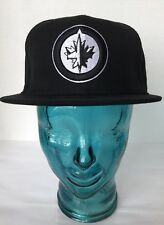 New Era 59 Fifty NHL Winnipeg Jet Black Unisex Cap Wool Black Embroider 7 1/8