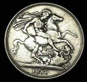 Victoria 1888 crown