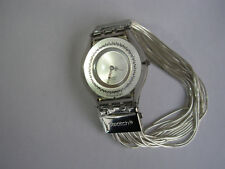 SWATCH SKIN MESHSTREAM INFINESSE LARGE - 2004 - SFM106 with SILVER 925 strap