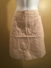 White stag Women's skort gingham beige white checkers with pockets size 10