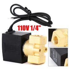 Brass Electric Solenoid Pneumatic Valve 1/4