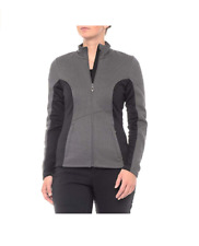 Spyder Woman's Full-Zip  Knit Fleece Jacket Size Small Black and Grey