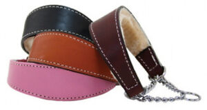 Auburn Leathercrafters QUALITY Shearling Lined Leather Martingale Dog Collars