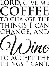 wine serenity prayer room VINYL Wall DECAL art decor kitchen quote lettering