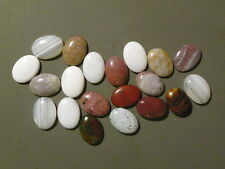 Agate And Or Jasper 20 of 18x25 MM. Oval Cabs Cabochons