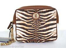 Roberto Cavalli Zebra Print Borsetta Bag Pochette Pochette Nuova con etichetta