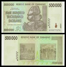 Zimbabue - Zimbabwe 500000 Dollars 2008 Pick 76a  SC = UNC