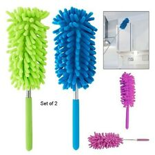 Telescopic Flexible Extending Microfiber Multipurpose Duster Set of 2