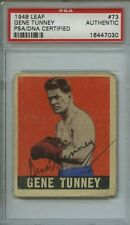 1948 Leaf #73 Gene Tunney SIGNED Boxing Card PSA Authentic