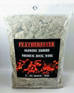 Gas Fireplace ~ Glowing Embers ~ Premium Rock Wool ~ 3 - 1/2 oz. Bag ~ Hang Hole