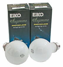 Set of 2 Lamps Eiko ECA 250 Watts 3200 Kelvin E26 Standard Screw base