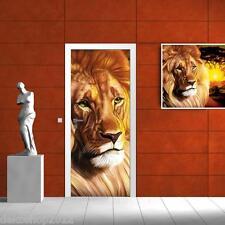 Vlies Tür Türfototapeten Fototapete Tapete Bild Foto AFRIKA LÖWE SAFARI 433 VET