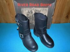 MOTORCYCLE BOOTS, LADIES RIVER ROAD TWIN BUCKLE ENGINEER, SIZE 8