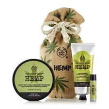 Body Shop Hemp Moisture Expert Set With Reusable Natural Jute Pouch - BRAND NEW