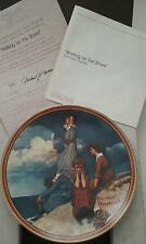 "NEW ""WAITING ON THE SHORE"" COLLECTOR PLATE NORMAN ROCKWELL CERTIFICATE #10767J"