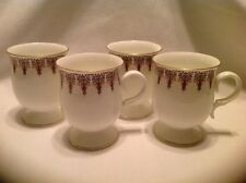 Queen Anne Bone China Cups/Mugs India Set of 4