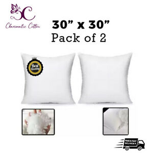 """PACK OF 2 Cushion Pads Inners Fillers Inserts 30""""x30"""" Inch Hollow Fibre Corovin"""