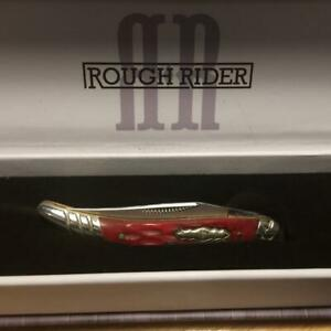 """Rough Rider Red Picked Bone Texas Toothpick 3"""" Pocket Knife  RR1680"""